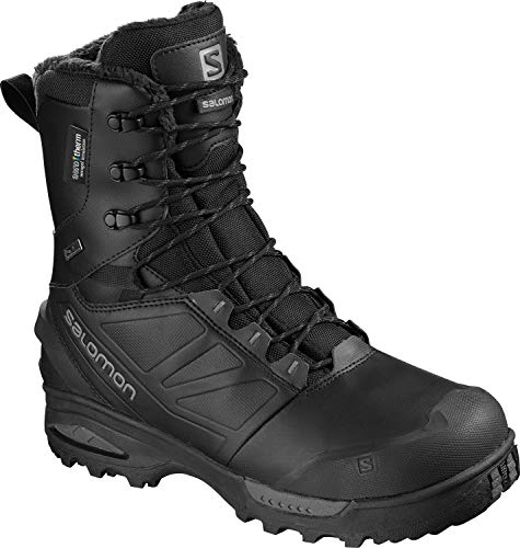 Salomon Men's Toundra Pro CSWP Snow Boots, Black/Black/Magnet, 9.5
