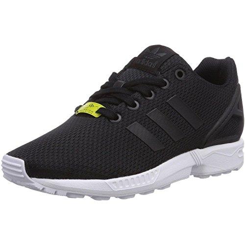 adidas Zx Flux J, Scarpe da Ginnastica Basse Unisex-Bambini, Nero (Black/Black/Footwear White 0), 38 EU