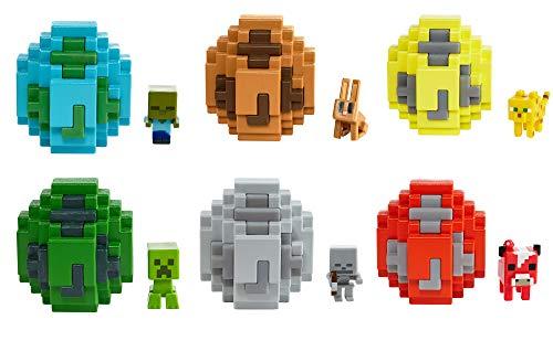 Mattel FMC85 - Minecraft Mini-Figuren Spawn-Ei, zufällige Auswahl, Spielzeug ab 6 Jahren