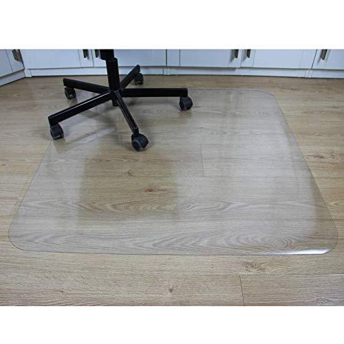 LPYMX Sitzkissen Holzboden Schutzmatte transparent Stuhlschutz Pad Computer Drehstuhl Tisch und Stuhlkissen IKEA Bürostuhl Möbel Bodenmatte PVC Klar Pad, 80 * 80cm