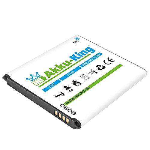 Akku-King Akku kompatibel mit Samsung EB-B600, B600BE, B600BU, B600BC - Li-Ion 2900 mAh - mit NFC - für Galaxy S4, S4 Active i9295, i9500, LTE i9505, i9506