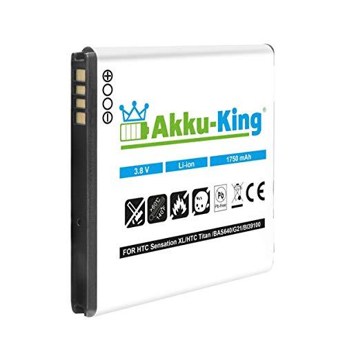 Akku-King Akku kompatibel mit HTC BA S800, BL11100 Li-Ion - 1750mAh - für Desire U, V, VC, X, T328, T327D