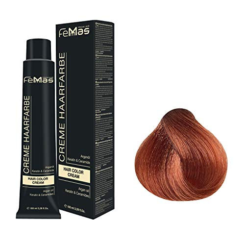 Femmas Hair Color Cream 100ml Haarfarbe (Mittelblond Kupfer Intensiv 7.44)