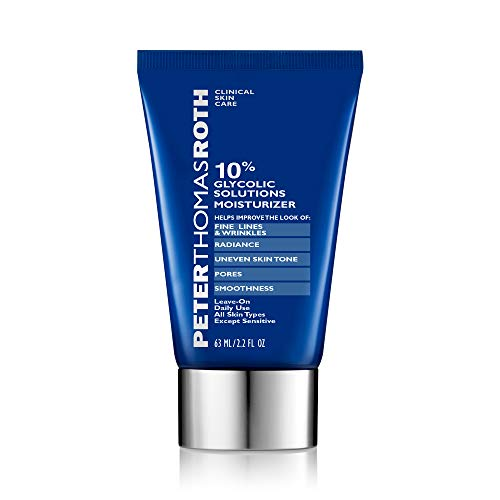 reviva peter thomas roth glycolic acids 10% Glycolic Solutions Moisturizer, Exoliating Moisturizer with Glycolic Acid, Helps Improve the Look of Fine Lines, Wrinkles, Brightness, Clarity, Uneven Skin Tone, Pores and Smoothness