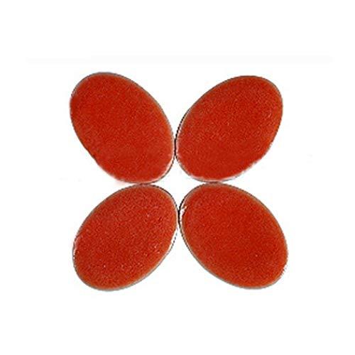 Realizzazione di Mosaici 60 pz Mosaico Artigianato Art Belt Belt Mosaico Che Fa in Porcellana Mattonelle di Mosaico Orecchino Micro Ceramica Ovale Ultrathin in Ceramica (Color : Red)