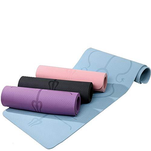 N / A 1830 * 610 * 6mm TPE Yogamatte Rutschfester Teppich Pilates Gym Sport-Übungspads für Anfänger Fitness Umweltgymnastikmatten 183x61x0,6CM