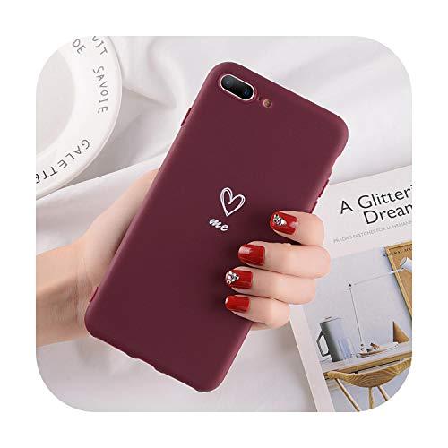 Fun-boutique - Carcasa de TPU para iPhone 5, 5S, SE, 6, 6S, 7, 8 Plus, color rojo