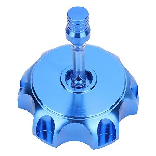 Tapa del tanque de combustible, Tapa del tanque de combustible, Tapa de la tapa del tanque de combustible de gas de aluminio CNC de la motocicleta para 50cc-160cc Pit Dirt Motor Bike(Azul)