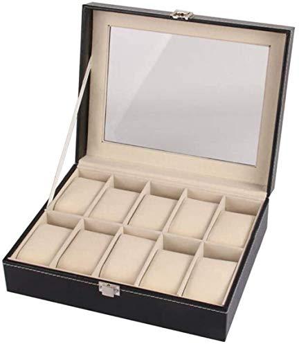 Uhr Box Schmuckschatulle Herren Damen Geschenk Reisen Hochwertige Pu-Leder Herren Und Damen Schiebe Dachfenster Aufbewahrungsbox-10 Ziffern Sort Out Organizer