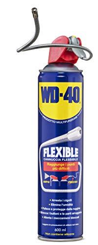 WD-40 Multifunzione - Lubrificante Spray Flexible con Cannuccia Flessibile Modellabile e Resistente, Sistema Professionale con Doppia Posizione - 600 ml