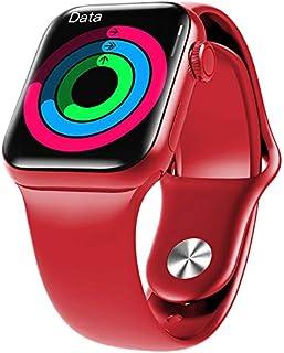 HW12 Full Screen Smart Watch 44MM Women Men Smartwatch Split Screen Bluetooth HD Call Play Music Sport Wrist (red)