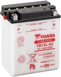 Batterie YUASA YB14L A2 (DC) offen ohne Säure, 12V|14Ah|CCA:175A (136x91x168mm) für Kawasaki GPZ500 S Baujahr 2000