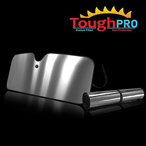 TOUGHPRO Windshield - Sun Shade - Accessories - Compatible with Toyota Tundra with Sensor - 2014, 2015, 2016, 2017, 2018, 2019, 2020 - Heat Automation - Custom-Fit - UV Reflector - Block UV Rays