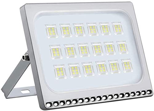 Viugreum Faretto a LED da 100W, IP67 Resistente all'acqua LED esterno, Luce Bianca 6500K, 8000LM, Ideali per Giardino, Parco, Garage e Piazzale