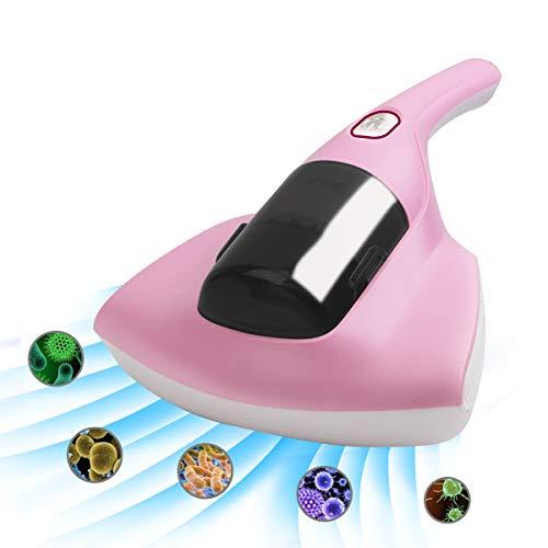EFSHREE 布団掃除機 布団クリーナー ダニ掃除機 小型掃除機 ハンディクリーナー 布団乾燥機 UVランプ HEPAフィルター 温風 強吸引力10000Pa 超軽量1.25Kg 花粉対応 ベッド ソファー 家庭車載 (Pink)