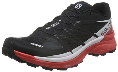 SALOMON L39195900, Stivali da Escursionismo Unisex – Adulto, Nero (Black/Racing Red/White Black/Racing Red/White), 37 1/3 EU