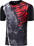 Sportides Boy's Quick Dry Active Sport Short Sleeve Breathable T-Shirt Tee Top LBS713 Black M