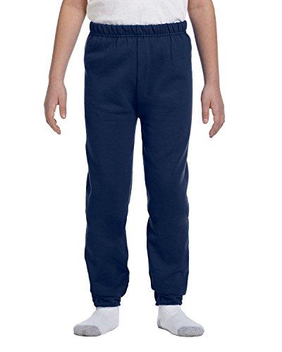 Jerzees Youth 8 oz., 50/50 NuBlend Sweatpants, Small, J NAVY