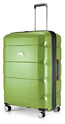 Hauptstadtkoffer - Britz - Hartschalen-Koffer Koffer Trolley Rollkoffer Reisekoffer Erweiterbar, 4 Rollen, TSA, 75 cm, 115 Liter, Hellgrün