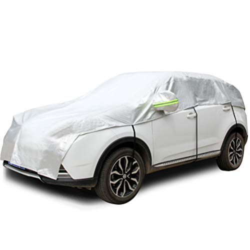 Konnfeir Half Car Cover with Cotton All Weather Car Body Covers Outdoor...