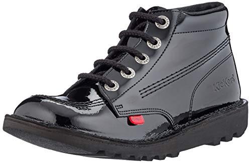 Kickers Kick Hi Y Core - Botas de piel de color negro de talle alto, tallas infantiles, color negro, talla 32