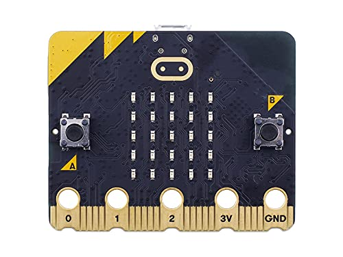 BBC micro:bit V2 Authentic Speaker with MEMS Microphone, Accelerometer, 2.4GHz Radio/BLE Bluetooth 5.0 for Kids and Beginners