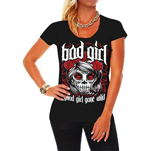 Spaß kostet Frauen Girls Tshirt Tattoo Mexican Pinup Inked Nasty Sexy Grösse XS bis 5XL