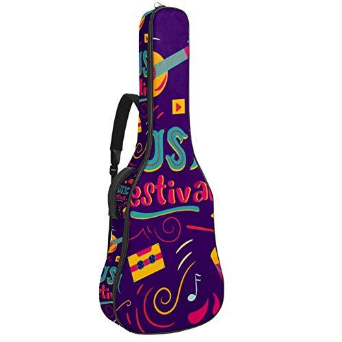 Bolsa de guitarra impermeable con cremallera suave para...