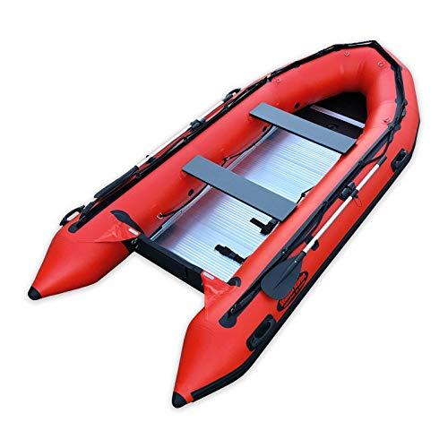 Best Price Seamax Ocean380 12.5 Feet Heavy Duty Inflatable Boat, Hot Welded Chamber Seam, Aluminum F...