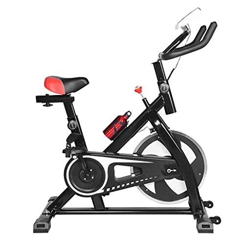 WGFGXQ Bicicleta de Ciclismo para Interiores Bicicleta de Ejercicios estacionaria Estándar Comercial, Asiento y pasamanos Ajustables, transmisión por Correa Suave y silenciosa