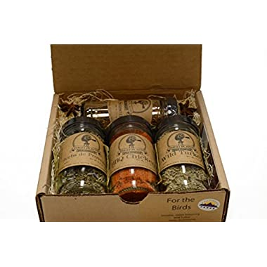 For the Birds Gift Set of 4 ~ Gift Set by High Plains Spice Company ~ Gourmet Meat and Veggie Spice Blends & Rubs For Beef, Chicken, Veggies & All Recipes ~ Spice Blends Handcrafted In Colorado, USA
