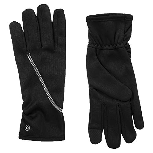 Women's Lightweight Black Running Gloves, Touch Screen Friendly, With A Reflective Strip