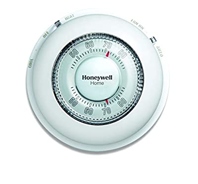 Honeywell CT87N1001/E1 The Round Non-Programmable Manual Thermostat, Large, White