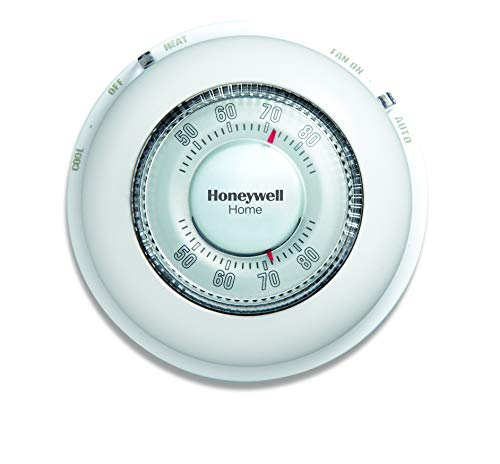 Honeywell Home CT87N1001/E1 The Round Non-Programmable Manual Thermostat, Large, White