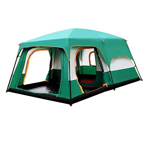 GLY Riesen-Camping-Zelt im Freien for Familien 12 Personen Zelt im Freien doppelte Schicht Wasserdichten Zwei-Zimmer-One Halle Riesen Zelte for das Wandern, Angeln, Camping und Gesellschaft Aktivität