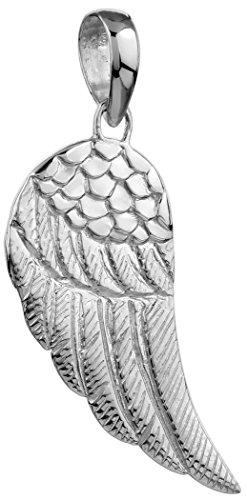 Kuzzoi argento ciondolo a forma di ala per catene, argento Sterling massiccio per collane, molto elegante ed esclusivo 361369-000