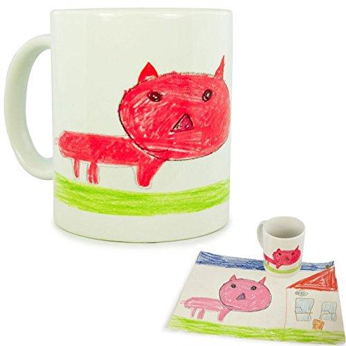 Personalisierte Tasse mit Kinderzeichnung