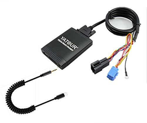 Adaptateur audio numérique 8 broches pour autoradio - Entrée audio numérique - Interface ports pour carte SD, i-Pod MP3, USB, prise audio de 3.5 mm - Pour i-Phone pour 8 broches