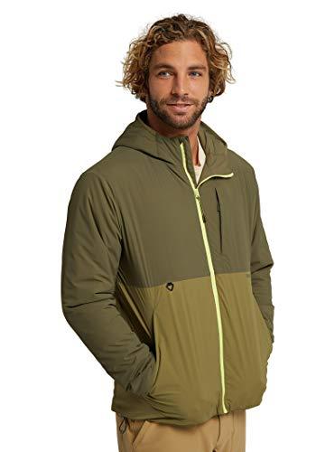 Burton Mens Multipath Hooded Insulated Jacket, Keef/Martini, Medium