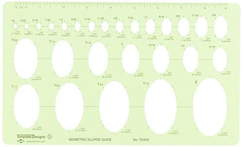 "Alvin, TD400, Isometric Ellipse Guide Template, 6.125"" x 10"" x .030"""