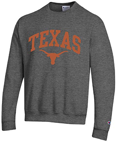 Champion Texas Longhorns Charcoal Grey Campus Arch Crew Sweatshirt...