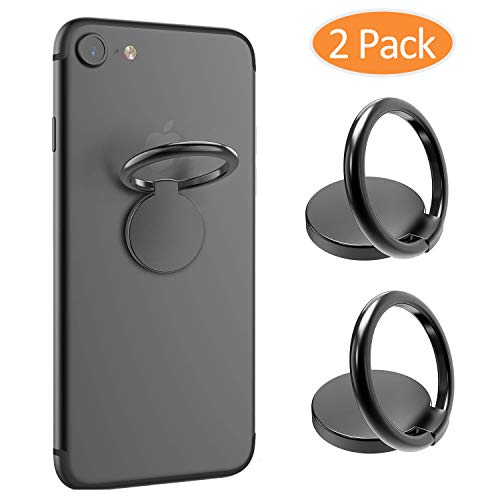2PCS Cell Phone Ring Holder Finger Kickstand 360°Rotation Ring Grip Universal Mobile Phone Ring for iPhone X 8 7 Plus 6S 6, Samsung Galaxy S6 S7 S8 S8 Plus, Note, LGand All Other Phones(Gunmetal)