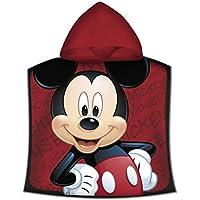 Kids - Poncho Toalla, Diseño Mickey, color Rojo, 50 x 100 cm (WD19610M)