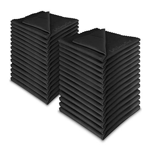 50x LetsSwipeThat Mikrofasertücher - 20x20 cm Mikrofaser Brillenputztuch. Kamera Objektiv Microfaser Reinigungstücher. LCD, Led TV Bildschirm Microfasertuch Reinigung. Laptop pc Display Reiniger Tuch