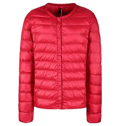 Ultraleichte weiße Daunenjacke für Damen Gr. 48, rot