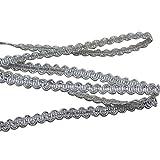 SUPVOX Braided Gimp Trim Crafts Braid Trim Ribbon Metallic Braid Trim Embellishment for Wedding Birthday Party Decoration 10m
