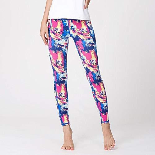MSFX Pantalon De Sport pour Femmes, Impression Numérique, Pantalon De Yoga De Fitness Taille Haute Imprimé en 3D, J_L
