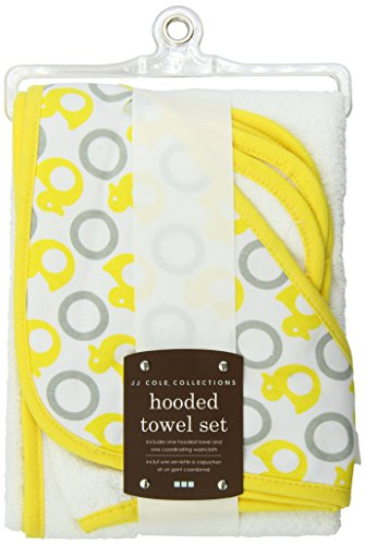 JJ Cole Two-Piece Hooded Towel Set, Yellow Ducks by JJ Cole (English Manual)