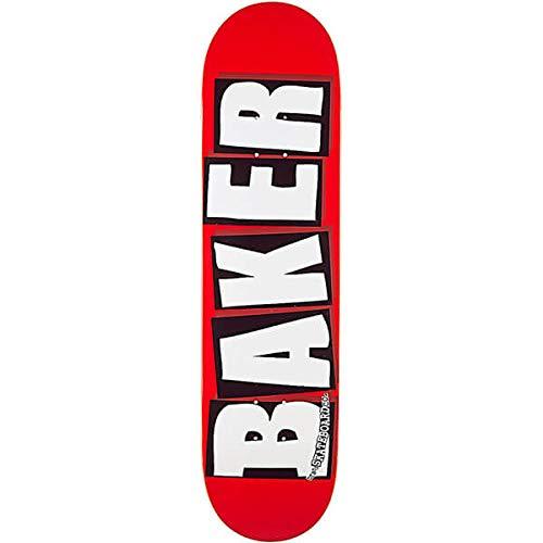Baker Skateboards Skateboard-Brett / Deck, 20,3 x 80 cm, Rot / Weiß