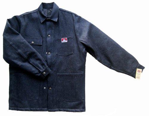 Ben Davis Men's Original Style Jacket, with Front Snap (Indigo Denim, Medium)